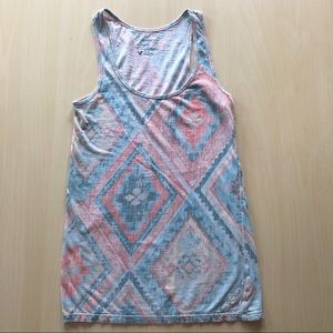 American Eagle Tank with Western Design Size Small